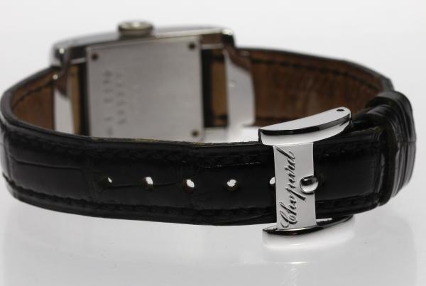 ショパール K18WG Strada 41/7404/8 QZ pure leather belt Lady's