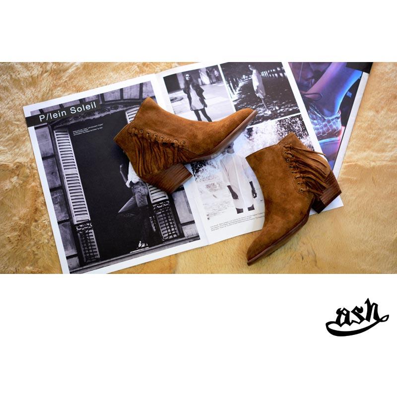 ASH(アッシュ)Lenny 115871(ショートブーツ ウエスタン フリンジ レディース)
