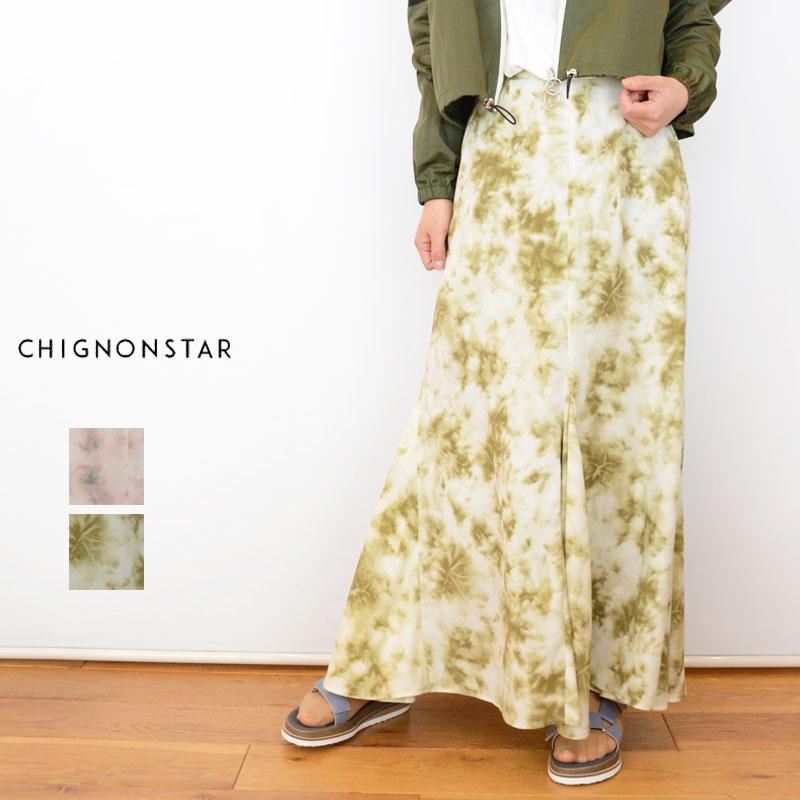【送料無料】CHIGNONSTAR(シニヨンスター)むら染めスカート[むら染め タック レディース]2601-050