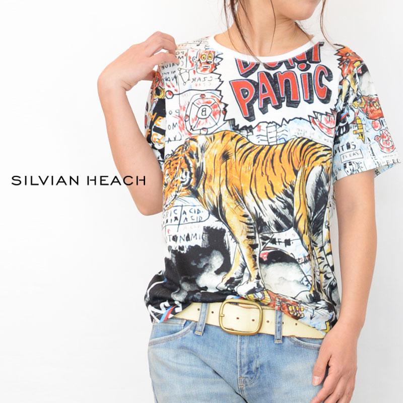 【送料無料】SILVIAN HEACH(シルビアンヘッチ)プリントTシャツ(Tシャツ トラ 柄 レディース)PGP20391