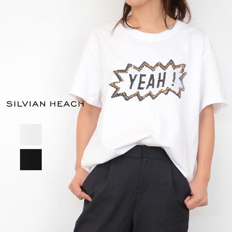 【送料無料】SILVIAN HEACH(シルビアンヘッチ)スパンコールBIG Tシャツ(英字 スパンコール インポート レディース)PGP20583
