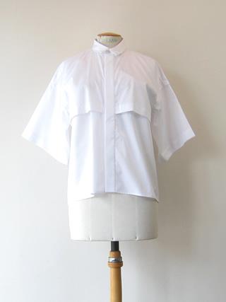 ★HAVERSACK ハバーザックワイドハーフスリーブコットンシャツ[621608]【割40】