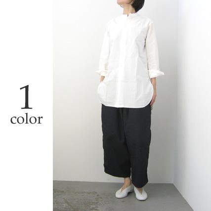 MASTER&CO. マスターアンドコーウォッシャブルコットンリネンスタンドカラービッグシャツ[MC938]