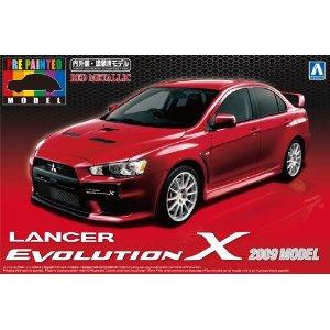 1/24 プリペイントモデルシリーズNo.27 ランサー エボリューションX 2009年モデル ( レッドメタリック) : 青島文化教材社