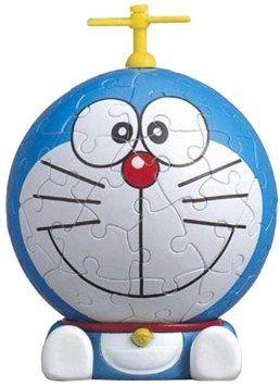 3D球体パズル ビッグフェイスミニ ドラえもん 60ラージピース ドラえもん (直径約7.6cm) やのまん