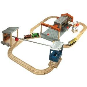 ラーニングカーブ きかんしゃトーマス 木製レールシリーズ ディーゼルワークスセット 98530