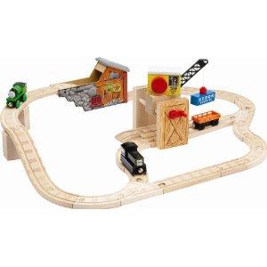 ラーニングカーブ きかんしゃトーマス 木製レール 鉱山トンネルセット 99566