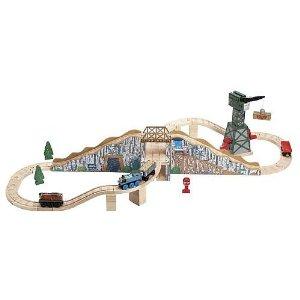 ラーニングカーブ きかんしゃトーマス 木製レールシリーズ ゴールドマイン マウンテン セット 09986