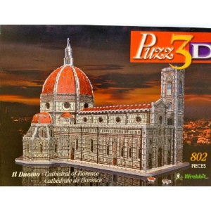 本格仕様の立体模型★フィレンツェ ドゥオーモ聖堂 3Dジグソーパズル(802ピース)  Wrebbit社【並行輸入】