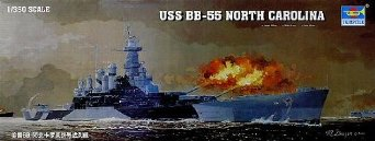 1/350 米海軍 戦艦 BB-55 ノースカロライナ トランペッター