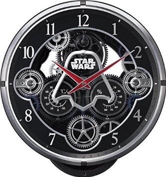STAR WARS(リズム時計) 銀河帝国軍ダースベーダー KARAKURI CLOCK/スター・ウォーズ 黒色 4MN533MC02 リズム時計
