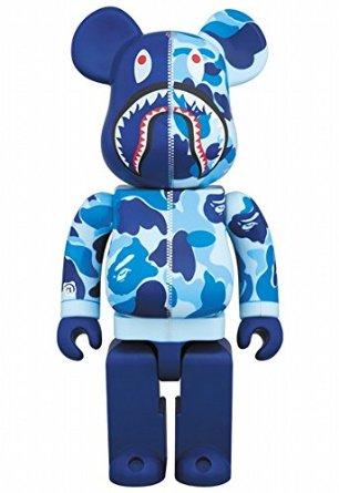 BAPE(R) CAMO SHARK BE@RBRICK 400% ブルー