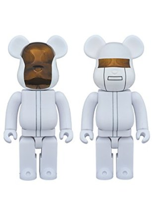 BE@RBRICK ベアブリック BEARBRICK DAFT PUNK (WHITE SUITS Ver.) 2pcs 400% メディコム・トイ