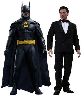 ムービー・マスターピース バットマン リターンズバットマン&ブルース・ウェイン(2体セット) 1/6スケール プラスチック製 塗装済み可動フィギュア ホットトイズ