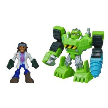 トランスフォーマー レスキューボッツ 2014 ミニフィギュア2パック ボルダーザコンストラクションボット&ドックグリーン Hasbro