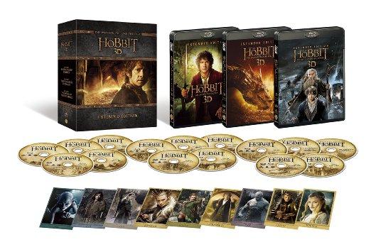 【Amazon.co.jp限定】ホビット エクステンデッド・エディション トリロジーBOX ブルーレイ版(15枚組/デジタルコピー付) [Blu-ray]