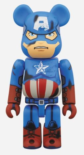 BE@RBRICK x  アベンジャーズ キャプテンアメリカ DAMAGE Ver. ベアブリック 100% 新品