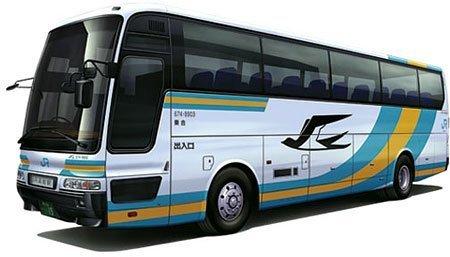 青島文化教材社 1/32 バス No.17 JR四国バス 高速バス