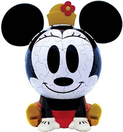 3D球体パズル ビッグフェイス ディズニー 60ラージピース ミニーマウス (直径約10.2cm) やのまん 新品