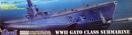 アメリカレベル 1/72 U.S.ガトー級 潜水艦 0384 ハセガワ
