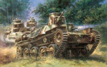 1/35 日本帝国陸軍 九五式軽戦車ハ号 初期型 サイバーホビー