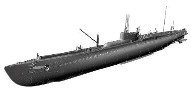 1/350 アイアンクラッド [鋼鉄艦] 巡洋潜水艦乙型 伊19 青島文化教材社