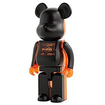 BE@RBRICK PORTER ブラック×スケルトンオレンジ 400% 吉田カバン 限定 ベアブリック クラチカ ヨシダ PORTER STAND 新品