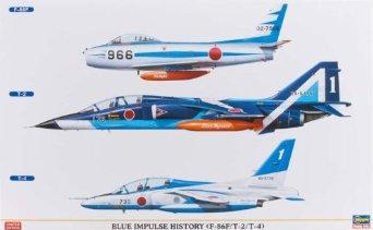 ブルーインパルスヒストリー (F-86F/T-2/T-4 3機セット) (1/48 09912) ハセガワ