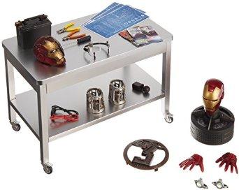 ホットトイズ アクセサリー 品質検査済 コレクション アイアンマン3 スタークの開発作業セット 1 6スケールフィギュア用アクセサリー トニー 日本