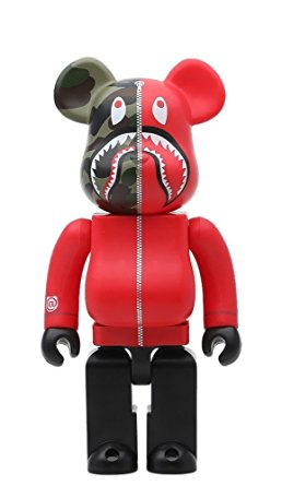 1st CAMO SHARK BE@RBRICK 400% RED メディコム・トイ 新品