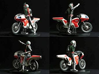 RMW017仮面ライダー新1号&新サイクロン号1/5スケール レインボー造型企画 新品