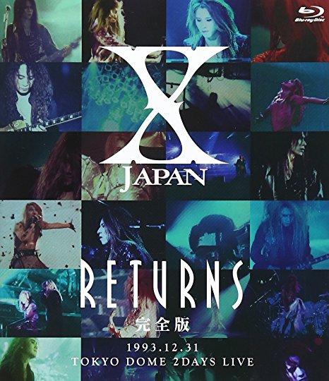X JAPAN RETURNS 完全版 1993.12.31 [Blu-ray]新品 マルチレンズクリーナー付き