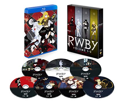 【Amazon.co.jp限定】RWBY VOLUME 1-3 Blu-ray SET 初回仕様版(特典:アウターケース) 新品 マルチレンズクリーナー付き