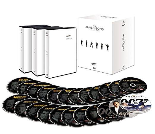 007 コレクターズDVD-BOX(23枚組)(初回生産限定) 007/スペクター収納スペース付(中古)マルチレンズクリーナー付き