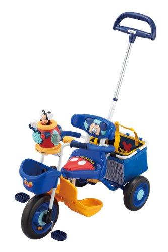 ポップンカーゴ三輪車 ミッキーマウス ブルー アイデス 新品