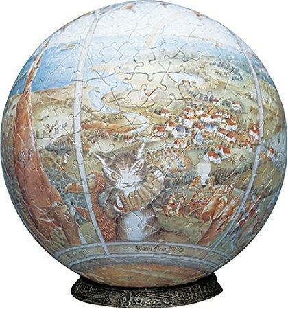 3D球体パズル わちふぃーるど 960ピース わちふぃーるどの世界 (直径約30.5cm) やのまん 新品