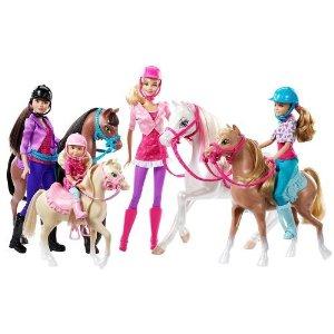 Barbie(バービー)Barbie Sisters Horse Adventure/4姉妹と馬 マテル