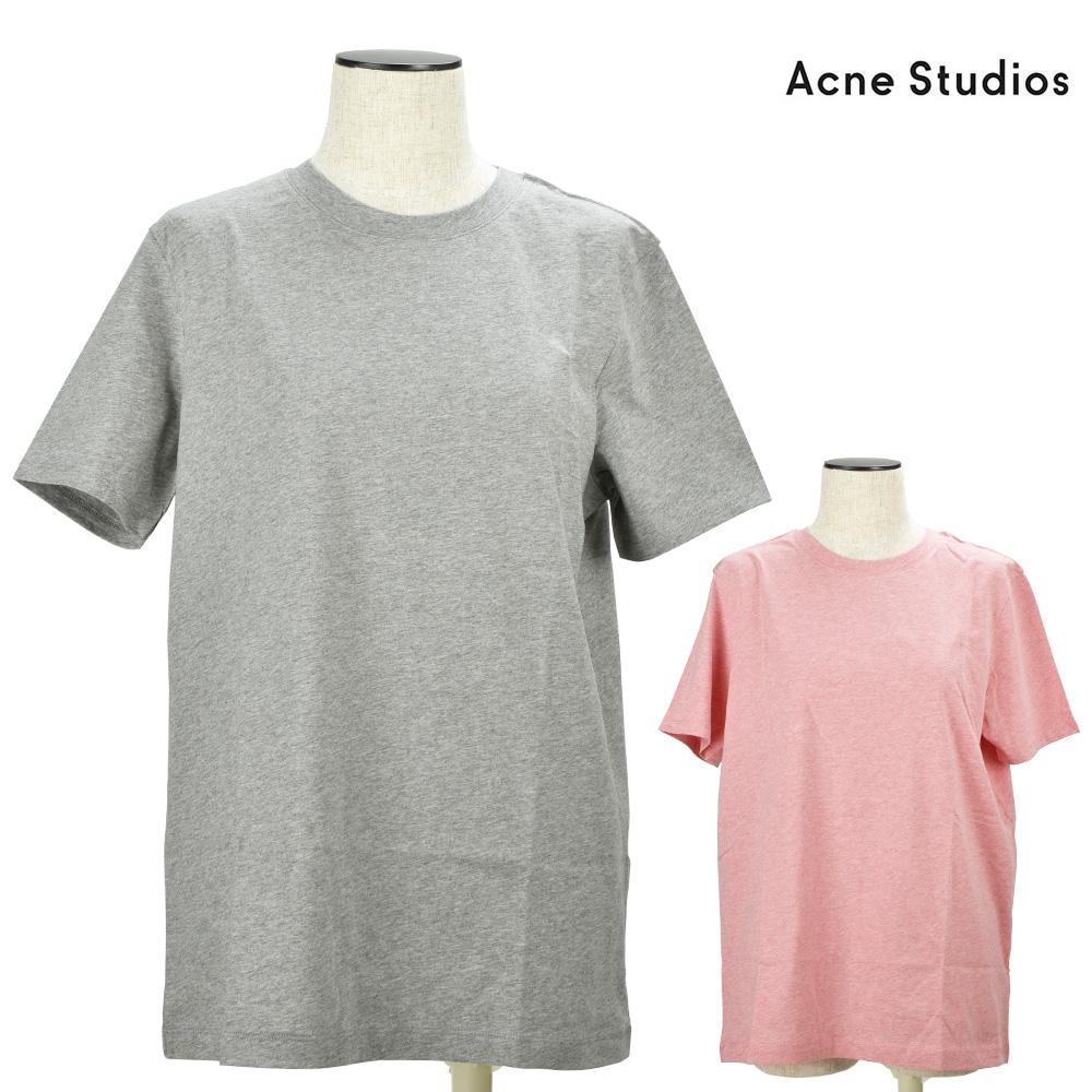 アクネストゥディオズ Acne Studios 152163-6D910 クルーネック Tシャツ カットソー 半袖 2枚組 グレー ピンク レディース 【送料無料】