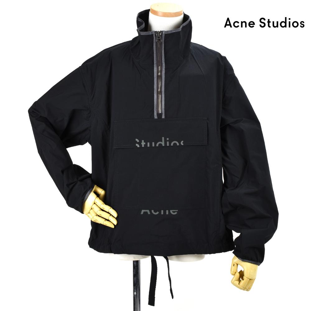 アクネストゥディオズ Acne Studios B90171-Z32046 JACKET BLACK / BLACK アノラック ジャケット ハーフジップ プルオーバー ブラック 黒 メンズ【送料無料】