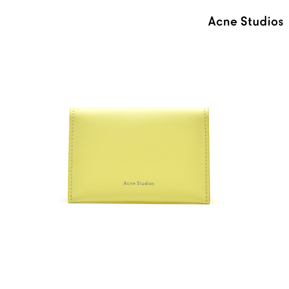 アクネストゥディオズ Acne Studios CG0025-ABT000 CARD CASE PALE YELLOW カードケース 名刺入れ パスケース レザー イエロー レディース【送料無料】