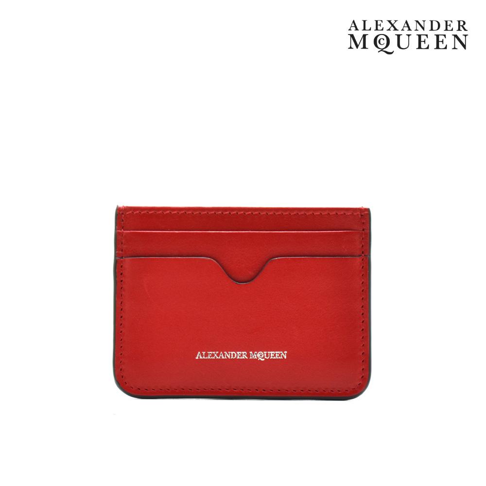 アレキサンダーマックイーン ALEXANDER McQUEEN 479935 DZQ5Y/5683 カードケース パスケース 名刺入れ レッド 赤 ピンク RED PINK バイカラー レディース【送料無料】