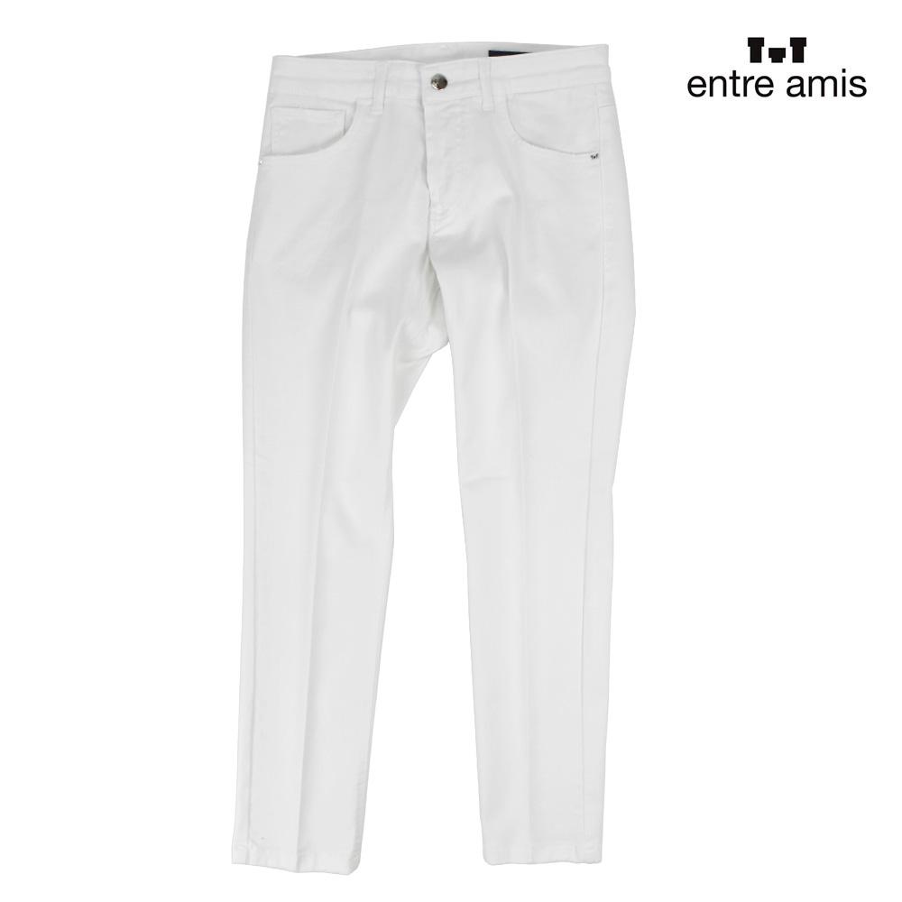 アントレアミ entre amis 8177/449L17 104 WHITE ホワイト デニムパンツ ジーンズ ボタンフライ 白 メンズ 【送料無料】