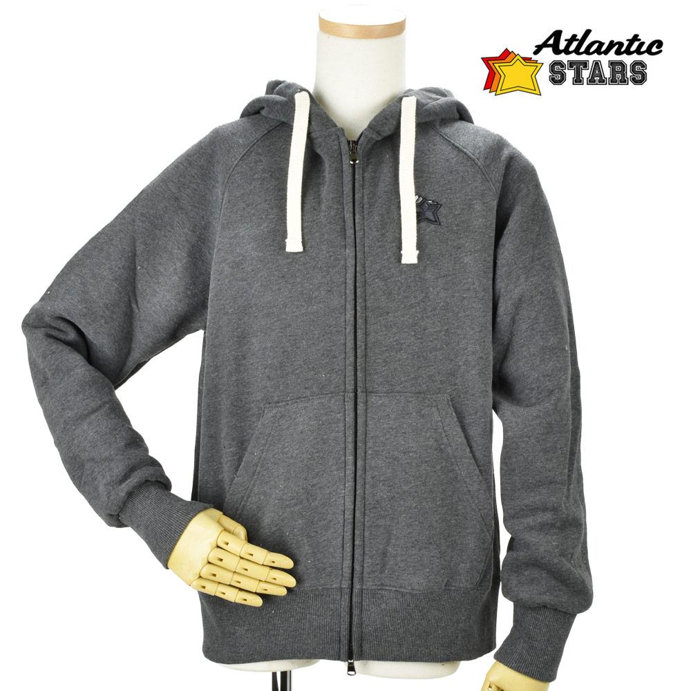 ジップアップパーカー 裏起毛 メンズ アトランティックスターズ フーディー 【送料無料】 グレー Atlantic STARS AFM1711