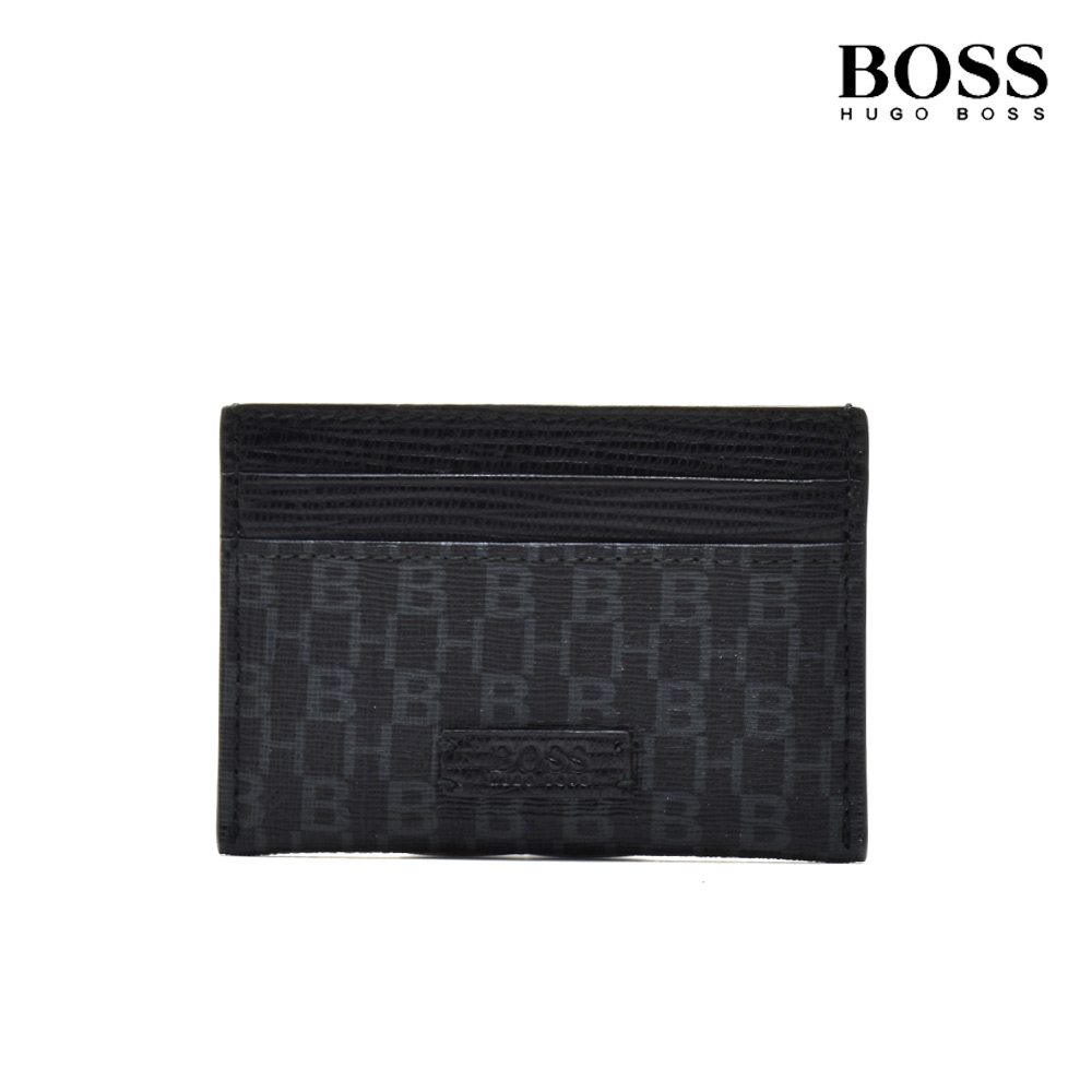 huge selection of 177dd a4084 Hold Hugo Boss HUGOBOSS 50402700 001 CARDHOLDER BLACK card case pass case  card; black black men