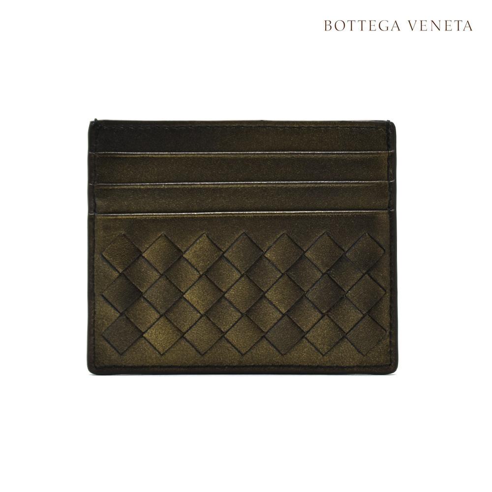 ボッテガヴェネタ BOTTEGA VENETA 162150 VCK71/8265 CARD CASE NAPPA DARKGOLD イントレチャート レザー カードケース パスケース ゴールド系 レディース【送料無料】