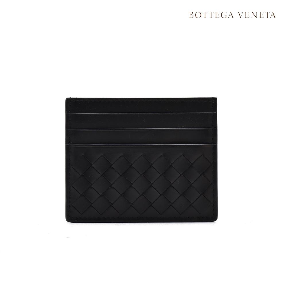 【ポイント3倍対象商品】ボッテガヴェネタ BOTTEGA VENETA 162150 VQ131/1000 LEGGERO レジェロ カードケース イントレチャート ブラック 黒 BLACK メンズ 【送料無料】