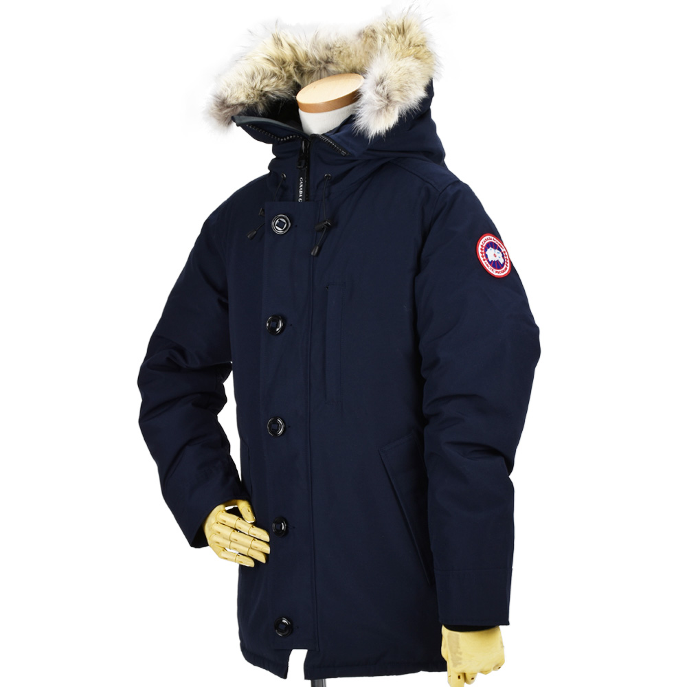 6505cd6fbfd Down jacket down coat navy dark blue men with Canadian goose CANADA GOOSE  3426MA/646 CHATEAU PARKA NAVY ...