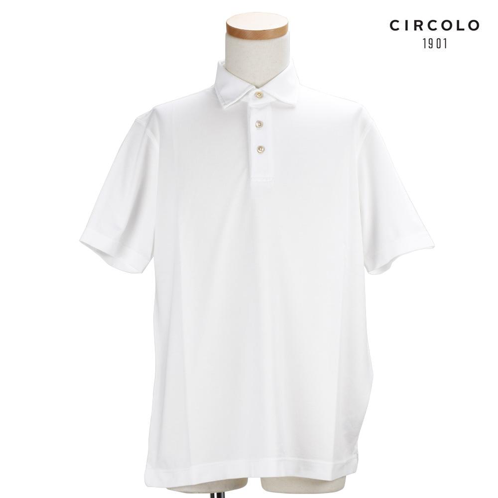 チルコロ CIRCOLO1901 CN1813 OTTIT Polo Bianco Ottitco トップス ポロシャツ 半袖 ホワイト 白 WHITE メンズ【送料無料】