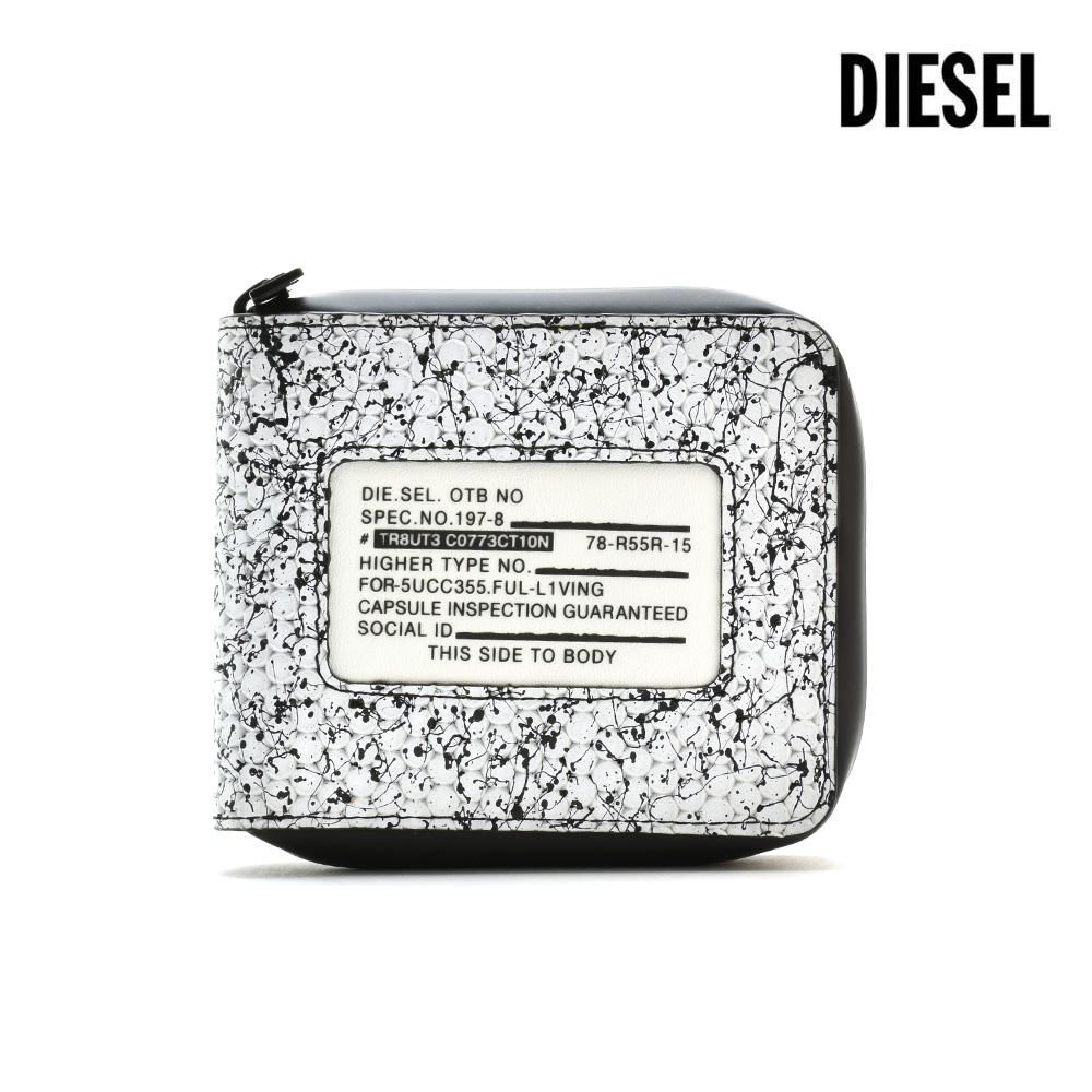 ディーゼル DIESEL X06145/PR400 H1527 WALLET WHITE ラウンドファスナー財布 二つ折り財布 コンパクトウォレット ホワイト 白 メンズ【送料無料】