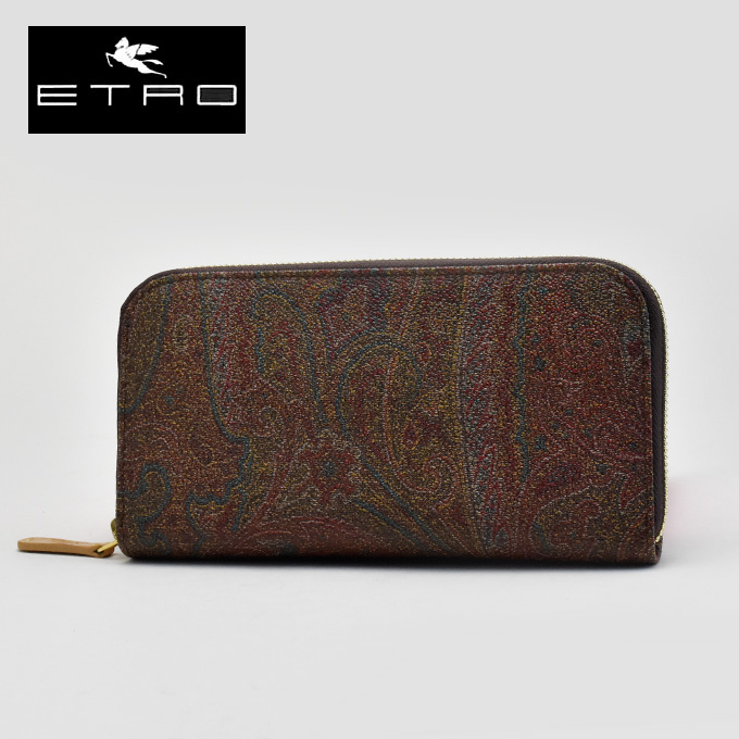 ETRO ETRO zip around wallet p0b107 1144 600 women's / men's / men combined / purse / wallet